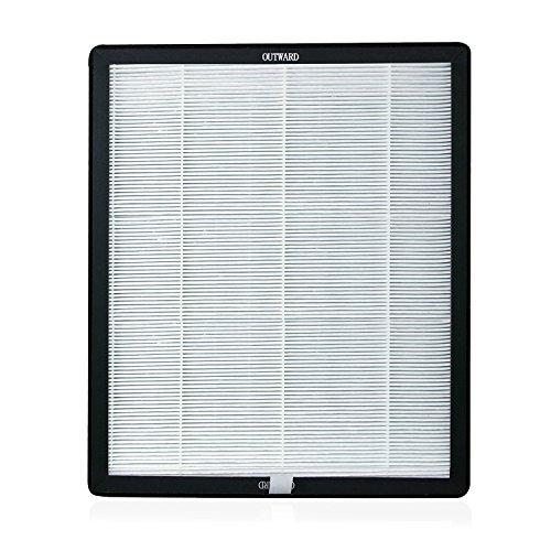 "Advanced Pure Air 'Air Shield' Replacement Hepa/Carbon Filter 13"" x11""x - Black Shield Sq"