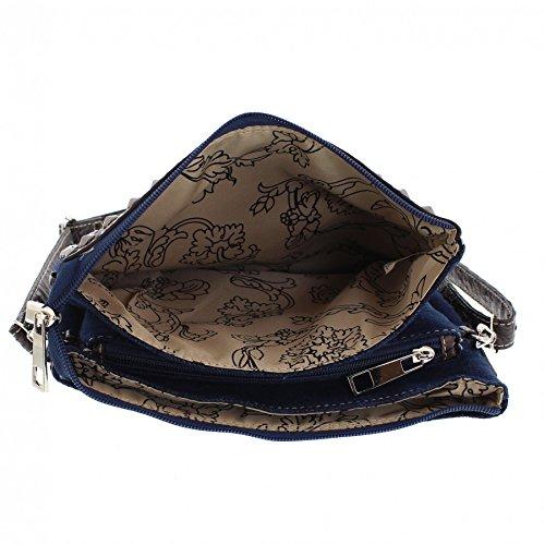 FB Fashion Boots, Borsa a tracolla donna multicolore jeans One size