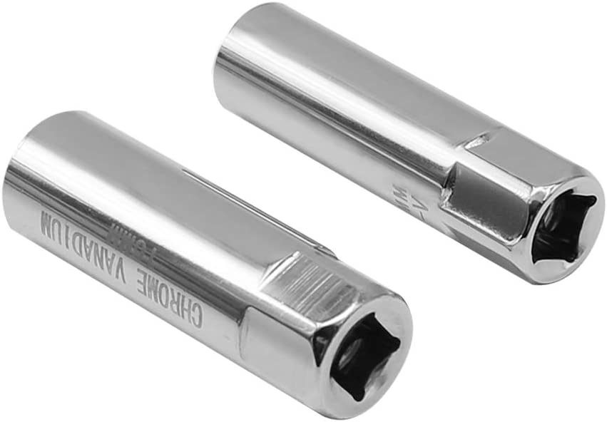 2 Packs 3//8-Inch Thin Wall Spark Plug Socket 12-Point Removal Tool with size 14 mm /& 16 mm
