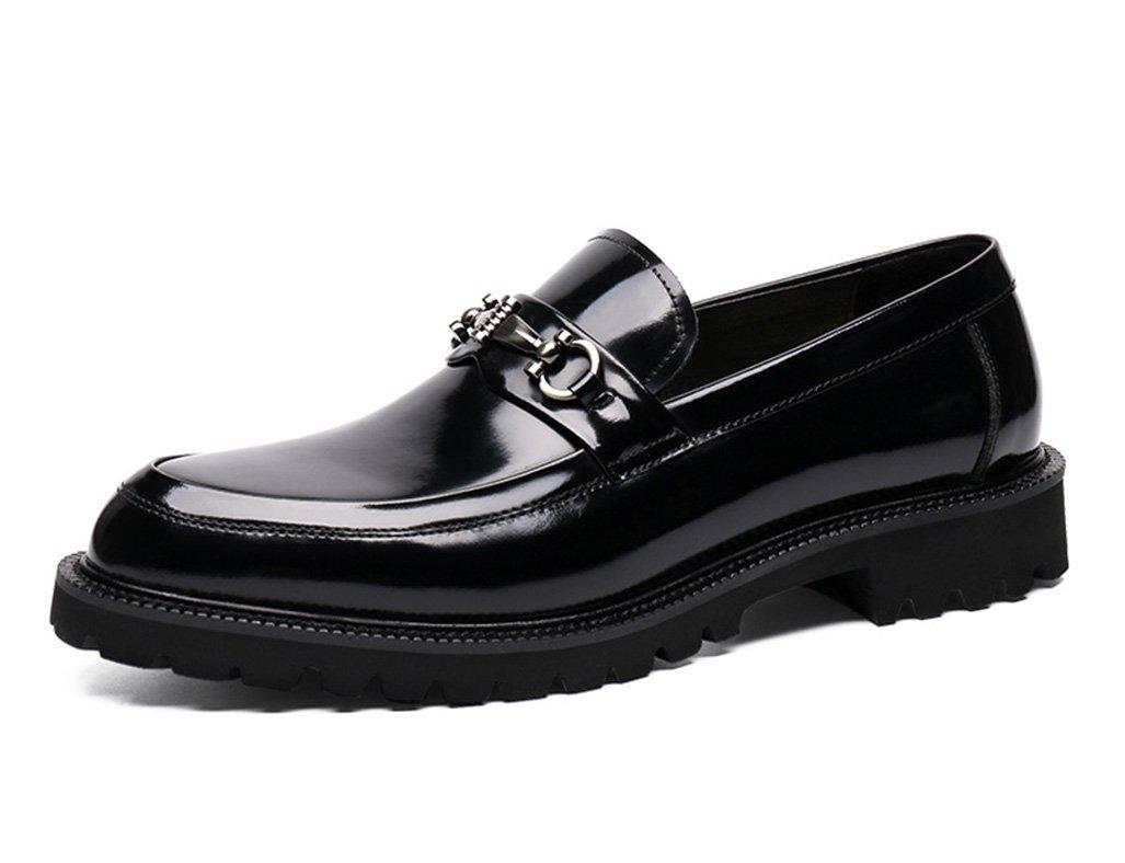 Zapatos Clásicos de Piel para Hombre Zapatos de Cuero para Hombres Negocios Ropa Formal Zapatos de Boda de Estilo Británico (Color : Negro, Tamaño : EU44/UK8.5) EU44/UK8.5|Negro