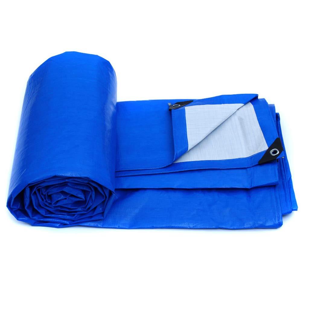 Qjifangfsh Plane, doppelseitiger Wasserdichter, im Freien regendichter Sonnenschutz-Sonnenschutz für Auto-LKW, Blau + Weiß (größe : 3m2m)