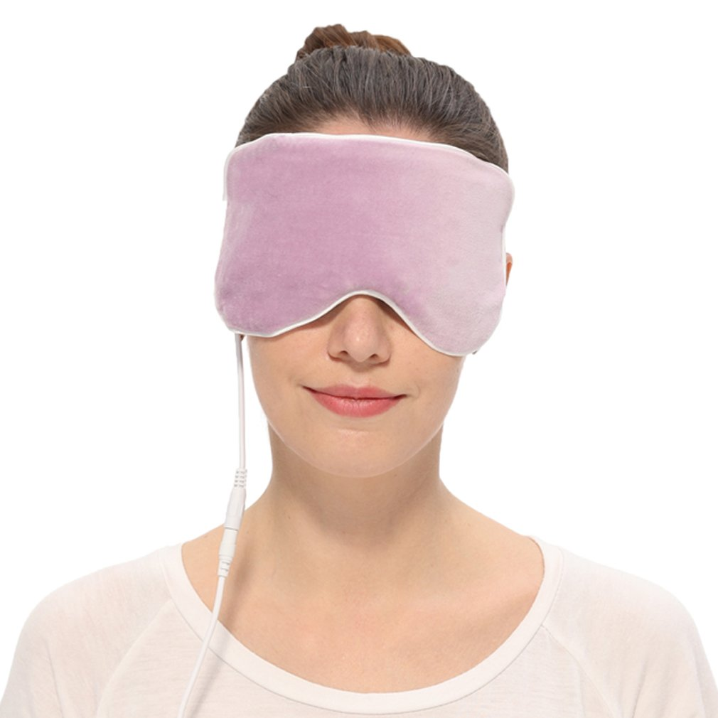 Aroma Season Electric Heated Cotton Silk Blepharitis Eye Mask, Treatment for Migrianes, Dry Eyes, Dark Circle, Puffy Eyes, Blepharitis, Styes, Chalazion (Purple)