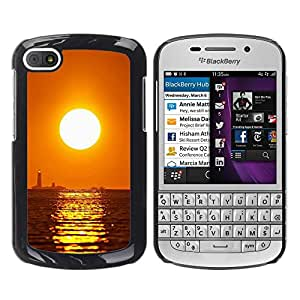 "For BlackBerry Q10 , S-type Puesta de sol Mar Beautiful Nature 16"" - Arte & diseño plástico duro Fundas Cover Cubre Hard Case Cover"