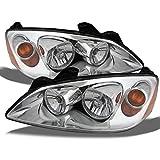 Pontiac G6 Amber Chrome Bezel OE Replacement Headlights Driver/Passenger Head Lamps Pair New