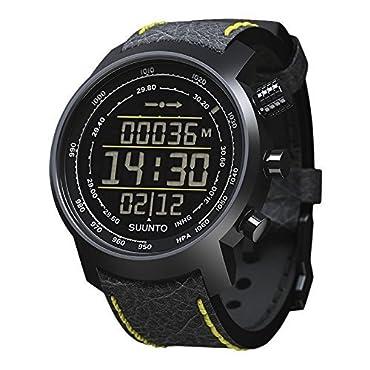 Suunto Elementum Terra Black/Yellow Leather Sports Watch (SS019997000)