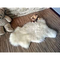 Soft Sheepskin Rug| Genuine | Thick Wool | 44 (White)