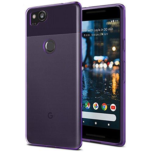 Price comparison product image Google Pixel 2 Case, OEAGO Ultra [Slim Thin] Flexible TPU Gel Rubber Soft Skin Silicone Protective Case Cover For Google Pixel 2 - Purple