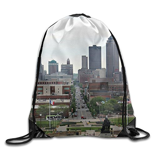 Adults & Children Des Moines Iowa Leather Reinforced Corners Removable Waterproof Storage Swimming Teamsport Formation Handbag Gymbag Gym Drawstring Bags Sackpack - In Moines Shopping Des