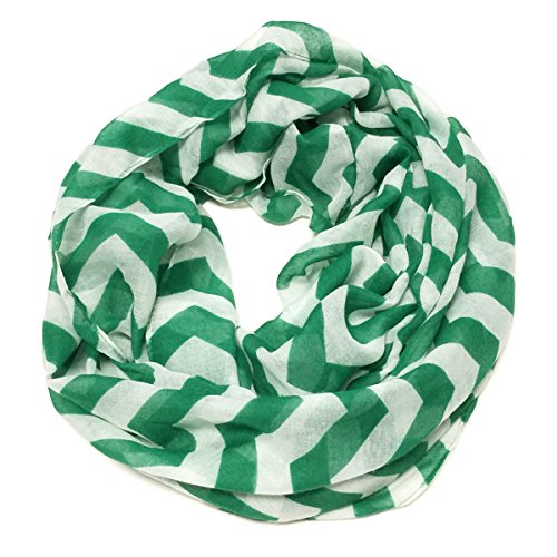 Wrapables Light Weight Chevron Infinity Scarf, Green
