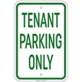 Tenant Parking Only Sign 8'x12' Aluminum Signs Retail Store