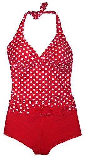 Marina West Tankini Boyshorts Swimsuit Set  Medium  Red Dot