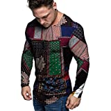 1KTon Men Christmas Pullover Sweatshirts Fun Ugly 3D Digital Printed Round Neck Imitation Cotton And Linen Top