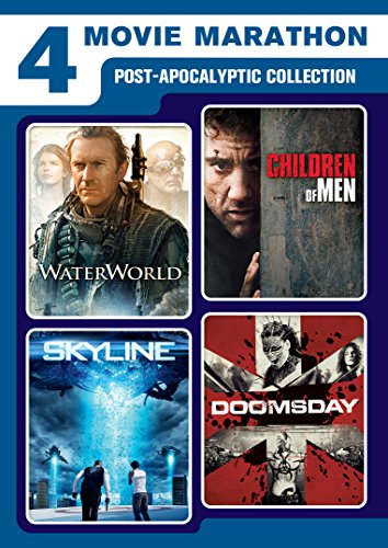 4 Movie Marathon: Post-Apocalyptic Collection (Waterworld / Skyline / Children of Men / Doomsday)