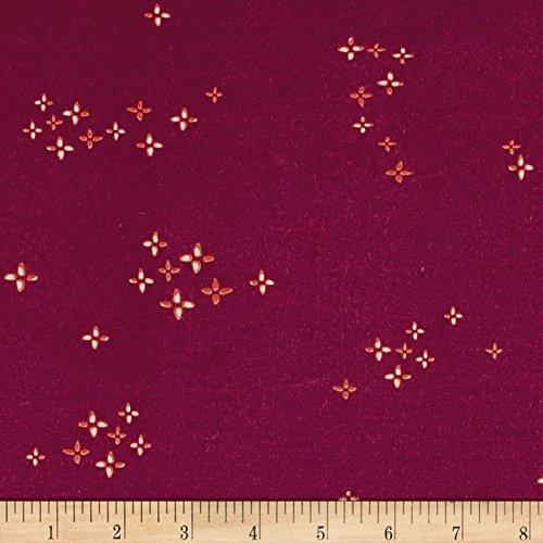 Art Gallery Fabrics Garden Dreamer Jersey Knit Twinklestar Fabric by the Yard, Berry by Art Gallery Fabrics
