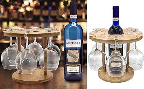 Bamboo Wine Glass Holder