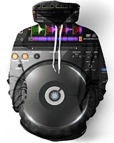 Chiclook Cool 3D Hoodies Audio Editor Mixer Dj Mens Sudadera Hombre Casual Hip Hop Pullover Hooded Sweatshirts