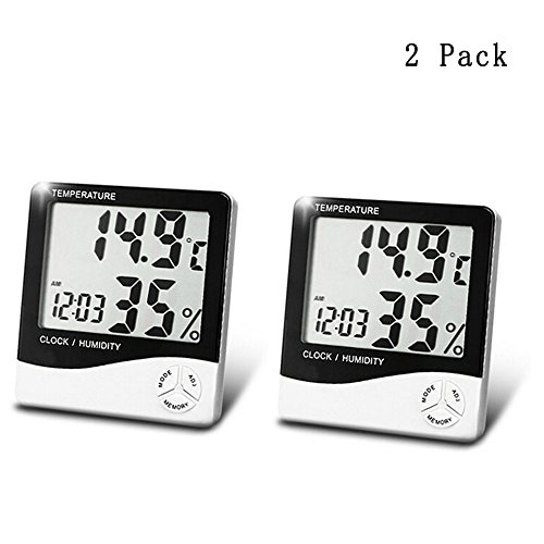 Accuracy Hygrometer Thermometer Indoor Humidity Monitor with Temperature Gauge Humidity Meter, Room Thermometer Fahrenheit Or Celsius- 2 pack by FullWe