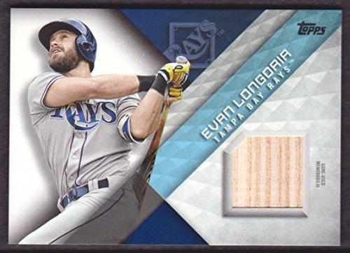 (2018 Topps Baseball Major League Materials #MLM-EL Evan Longoria Bat Tampa Bay Rays)