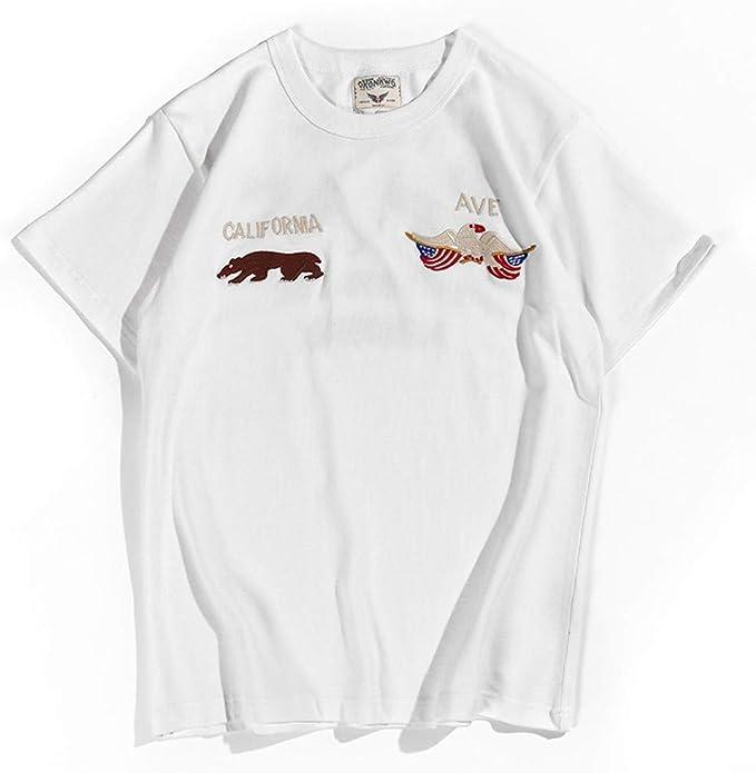 Playera de Verano con Cuello Redondo de algodón, Camiseta Bordada ...