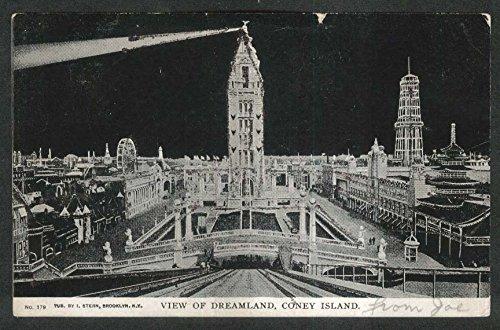 Island Coney Dreamland (Dreamland Coney Island NY postcard 1905)