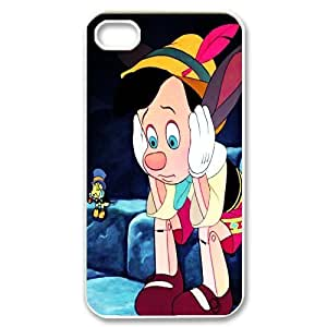 Cartoon Movie The Adventures of Pinocchio Pattern Productive Back Phone Case For Iphone 4 4S case cover -Style-13