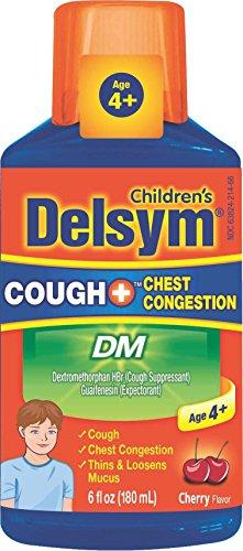Delsym Children's DM Cough + Chest Congestion Relief Liquid, Cherry, 6oz