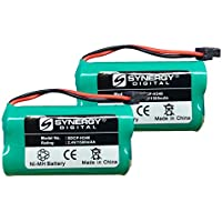 Synergy Digital Cordless Phone Battery Combo-Pack Includes: 2 x SDCP-H340 Batteries