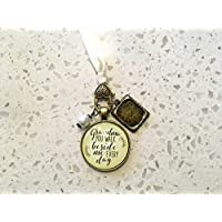Grandmother Bridal Bouquet Photo Charm Grandma You Walk Beside Me Every Day Wedding Pendant Memorial Remembrance Photo Jewelry