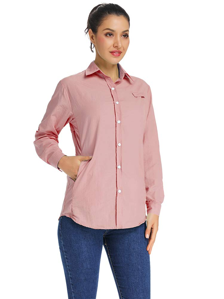 Jessie Kidden Womens Long Sleeve Shirt-Active Quick Dry UV Sun Protection Convertible Blouses for Hiking Camping Fishing Sailing #F5024
