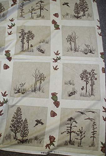 Migration Holly Taylor Trees Blocks Panel Moda -