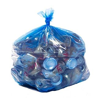 Toughbag Trash Bags 33x39 33 Gal 100/case Garbage Bags 1.2 Mil (Blue)