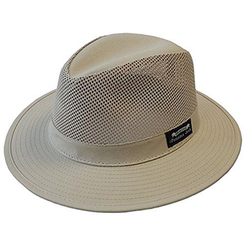 Panama Jack Men's Mesh Safari Hat M Khaki ()