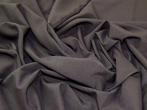 Italian Polyester, Viscose & Wool Blend Suiting Dress Fabric Dark Brown - per metre