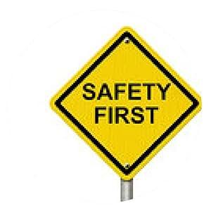 alfombrilla de ratón La seguridad ante la señal de peligro - ronda - 20cm
