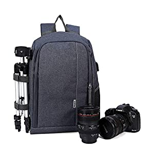 Beaspire DSLR Camera Backpack Sling Travel Photography Bag for DSLR Camera and Accessories Man and Woman
