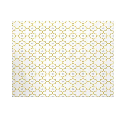 (Quatrefoil Photography Background,Moroccan Style Lattice Pattern Dots in Daisy Diamond Petals Four Leaf Clover Backdrop for Studio,8x7ft)