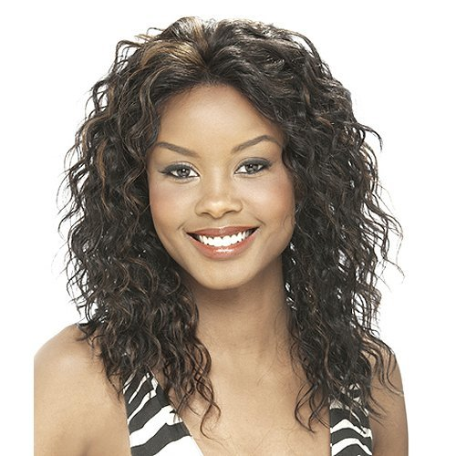 IT'S A WIG Human Lace Front Wig AMBER - Color#1B/30 - Off Black / Medium Brown Red (Amber Wig)