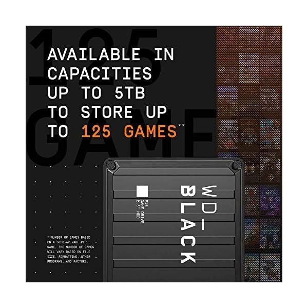 WD_BLACK P10 Game Drive 4 TB, HDD Portatile per Accesso in Mobilità alla Tua Libreria di Giochi, Compatibile con Console o PC 3 spesavip