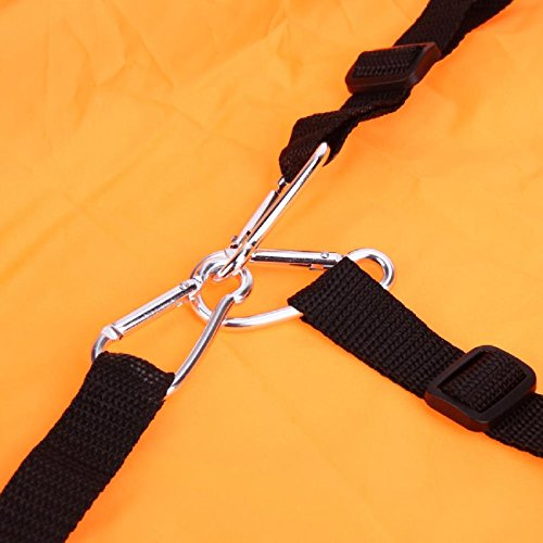 Liruis Kayak Downwind Kit 42 inches Kayak Canoe Accessories, Easy Setup & Deploys Quickly, Compact & Portable Orange by Liruis (Image #5)