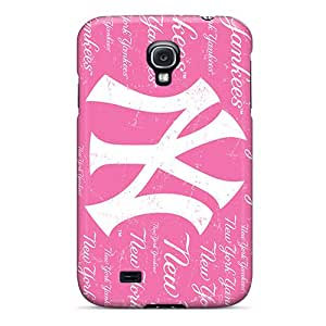 Great Cell-phone Hard Cover For Galaxy S4 With Customized Colorful New York Yankees Pattern ZachDiebel