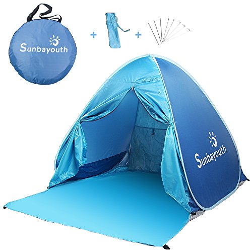 Sunba Youth Beach Tent Automatic Pop Up Portable Sun Shade UV Protection Sun Shelter with Pool...