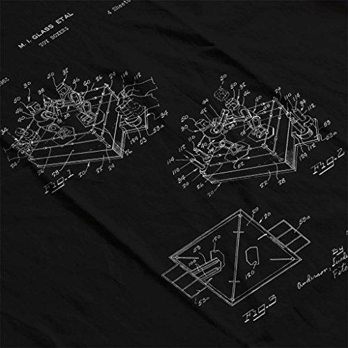 Glass Sweatshirt Robots Patent Women's Em Sock Game Black Rock Hooded Blueprint FzwYqFH