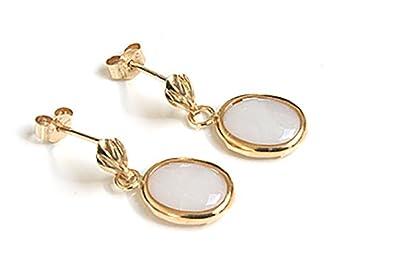 9ct Gold Opal long Teardrop earrings zDzK4