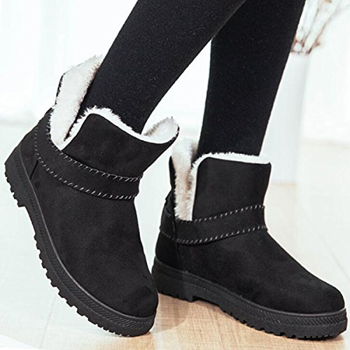 Pictures of Hee grand Women's Flat Ankle Boots Black 6 (BM) US 2