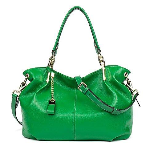 BOSTANTEN Leather Designer Handbags Satchel Tote Shoulder Cross Body Bags for Women Kelly Green (Discount Designer Bags)