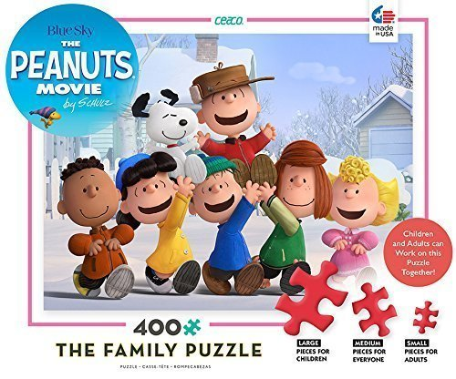 The Peanuts Movie the Family  blu Sky Puzzle 400 Piece by Ceaco