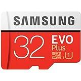 Memory Card Samsung EVO Plus 32GB microSD Memory Card UHS-I U1 95MB/s with Adapter, (MB-MC32GA/APC)