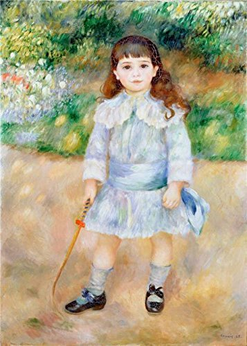 Oil Painting 'Boy With A Whip,1885 By Pierre-Auguste Renoir', 16 x 22 inch / 41 x 57 cm , on High Definition HD canvas prints is for Gifts And Bath - Eyeglasses Area Detroit