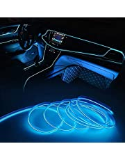 Neon Car Interior Atmosphere Light Strip, Interior Car Lights, Glowing Wire Lights, Ambient Lighting Kits for Car, Garden, Decorations
