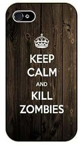 Diy iPhone 6 plus iPhone 6 plus Keep calm and kill zombies, brown - black plastic case / Keep calm, dead, walking
